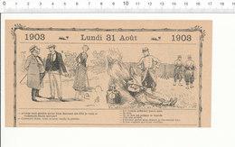 Humour De 1903 Jeu De Croquet  198PF31 - Unclassified