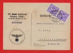 All.Bes./Bizone AM-Post MeF MiNr 2x 1 Auf Postkarte Von ARNSBERG > WARSTEIN 23.7.45 - Zona Anglo-Americana