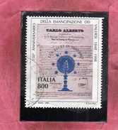 ITALIA REPUBBLICA ITALY REPUBLIC 1998 REGIE PATENTI A FAVORE DEI VALDESI USATO USED OBLITERE' - 6. 1946-.. Repubblica