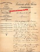 72-LA PIERRE PAR COUDRECIEUX- LETTRE MANUSCRITE SIGNEE VERRERIE DE LA PIERRE- FABRICATION AU BOIS- PARFUMERIE PHARMACIE - Old Professions