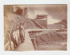 PHOTO ORIGINALE 12X9 / LES TUYAUS DE L'USINE ELECTRIQUE DE LA VILLE D'ANNEMASSE En 1903 - Places
