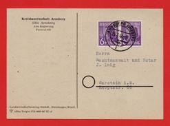All.Bes. Postkarte Kreisbauernschaft ARNSBERG MiNr 2x 944von  > WARSTEIN 25.7.47 - Zona AAS