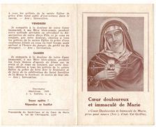 """IMAGE PIEUSE HOLY CARD SANTINI  2 Volets : """" Coeur Douloureux Et Immaculé De MARIE """" Mechliniae - Imágenes Religiosas"""
