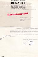 92- BILLANCOURT- LETTRE REGIE RENAULT- 1959- LUCIEN COLDEFY- E. CHAPISEAU PARIS- - Cars