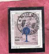 ITALIA REPUBBLICA ITALY REPUBLIC 1998 REGIE PATENTI A FAVORE DEI VALDESI LIRE 800 USATO USED OBLITERE' - 6. 1946-.. Repubblica