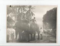 LAOS LUANG PRABANG FETES DU NOUVEL AN PROCESSION DES ELEPHANTS ROYAUX PHOTO ANNEES 50 - Places