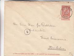 Belgique - Lettre De 1896 ° - Oblit Puers - Exp Vers Mechelen - Cachet De Malines Station - 1894-1896 Exhibitions