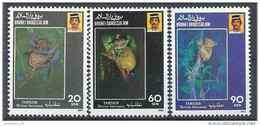 1990 BRUNEI 422-24** Animal Protégé, Tarsier - Brunei (1984-...)