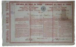Share - Companhia Das Minas Da Tapada - 50$000 1882 - Unclassified