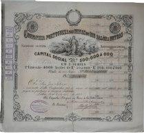 Share - Comp. Portugueza Das Minas Do Rio Salôr E Outras - 250$000 1882 - Unclassified