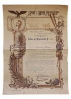 Share - Sport Lisboa-Bemfica - Título De Propriedade 1925 - Unclassified