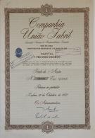 Share - Companhia União Fabril - 1.000$00 1972 - Unclassified