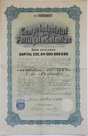 Share - Comp. Industrial De Portugal E Colonias - 18$00 1925 - Magazines: Subscriptions