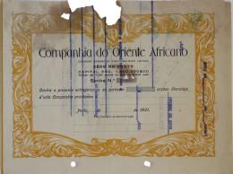 Share - Companhia Do Oriente Africano - Título Não Emitido 1921 - Magazines: Subscriptions