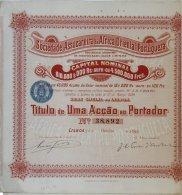 Share - Soc. Assucareira Da Africa Oriental Portugueza - 18$000 1899 - Magazines: Subscriptions