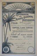 Share - Comp. Da Africa Ocidental Portugueza - 100$00 1920 - Magazines: Subscriptions