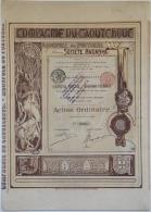 Share - Comp. Du Caoutchouc Monopole Du Portugal Soc. Anonyme - 100 Francs 1898 - Magazines: Subscriptions