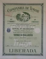 Share - Companhia De Timor - 4$500 1912 - Magazines: Subscriptions