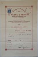 Share - Soc. De Emigração Para S.Thomé E Principe - 100$00 1926 - Magazines: Subscriptions