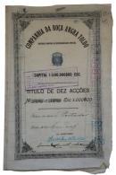 Share - Comp. Da Roça Angra Toldo - 1.000$00 1917 - Magazines: Subscriptions