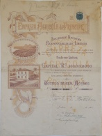 Share - Empreza Agricola Do Principe - 500$000 1900 - Magazines: Subscriptions