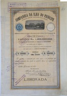 Share - Comp. Da Ilha Do Principe - 100$000 1898 - Magazines: Subscriptions