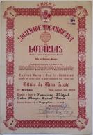 Share - Sociedade Moçambique De Lotarias - 100$00 1963 - Magazines: Subscriptions