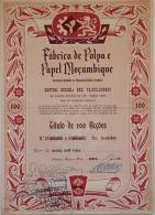 Share - Fábrica De Polpa E Papel Moçambique - 10.000$00 1958 - Magazines: Subscriptions