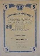 Share - Comp. De Moçambique - 1.250$00 1949 - Magazines: Subscriptions