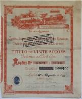 Share - Companhia Da Zambezia - 1.200$00 1945 - Magazines: Subscriptions