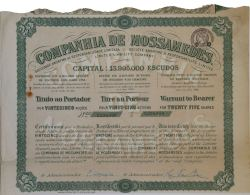 Share - Companhia De Mossamedes - 112$50 1928 - Magazines: Subscriptions