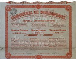 Share - Companhia De Mossamedes - 22$50 1928 - Magazines: Subscriptions
