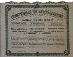 Share - Companhia De Mossamedes - 11$250 1927 - Magazines: Subscriptions