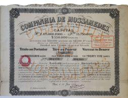 Share - Companhia De Mossamedes - 112$500 1926 - Magazines: Subscriptions