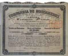 Share - Companhia De Mossamedes - 112$500 1922 - Magazines: Subscriptions