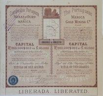 Share - Comp. Portugueza De Minas D'Ouro De Manica - 45$000 1899 - Magazines: Subscriptions