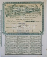 Share - Companhia Da Gorongoza - 90$000 1899 - Magazines: Subscriptions