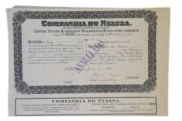 Share - Companhia Do Nyassa - 450$000 1895 - Magazines: Subscriptions