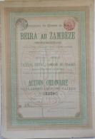 Share - Comp. Du Chemin De Fer Beira Au Zambéze - 500 Francs 1898 - Magazines: Subscriptions