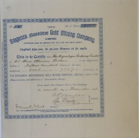 Share - The Braganza (Mozambique) Gold Mining Company - £1.500 1896 - Magazines: Subscriptions
