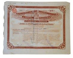 Share - Comp. De Moçambique -  112$500 1895 - Magazines: Subscriptions