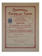 Share - Companhia Estrella Farim - 225$00 1924 - Magazines: Subscriptions