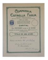 Share - Companhia Estrella Farim - 4$50 1924 - Magazines: Subscriptions