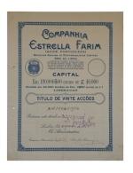 Share - Companhia Estrella Farim - 90$00 1924 - Magazines: Subscriptions