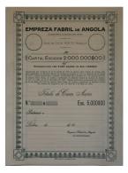 Share - Empreza Fabril De Angola - 5.000$00 19( ) - Magazines: Subscriptions