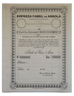 Share - Empreza Fabril De Angola - 1.000$00 19( ) - Magazines: Subscriptions