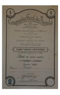 Share - Companhia Geral De Angola - 50$00 1931 - Magazines: Subscriptions
