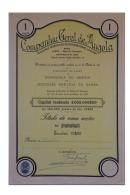 Share - Companhia Geral De Angola - 10$00 1931 - Magazines: Subscriptions