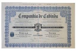 Share - Companhia De Cabinda - 4$50 1929 - Magazines: Subscriptions