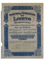 Share - Comp. De Combustiveis Do Lobito - 4$50 1928 - Magazines: Subscriptions